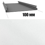 Потолок реечный Cesal S-100 Жемчужно-белый C01 (3м), 1 шт.