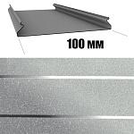 Потолок реечный Cesal S-100 Металлик серебристый с металлической полосой B22 (3м), 1 шт.