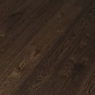 Паркетная доска Timberwise (Тимбервайс) Дуб Handwashed Браш (1-пол) Oak plank 185 oil/ lack choco 70%, 1 м.кв.